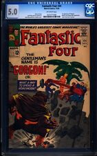 Fantastic Four 44 CGC 5.0 Silver Age Key Marvel Comic 1st App. Gorgon L@@K