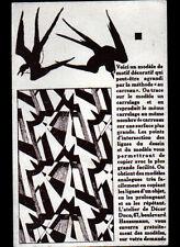 """PARIS (VIII°) CARRELAGE / FAIENCE """"L'ATELIER DU DECOR / DUCO"""" Modele HIRONDELLE"""