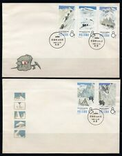 CHINA PRC 1965 MOUNTAIN CLIMBERS COMPLETE SET ON 2 FDC - S70 - SCOTT #828/832