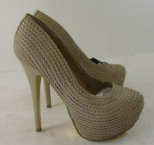 "new lady Skintone 6""Stiletto High Heel 2""Platform Round Toe Sexy Shoes Size 10"