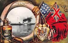 NOVA SCOTIA, CANADA, SS PRINCE RUPERT, FLAG, LANTERN & L.R. BORDER, used 1908