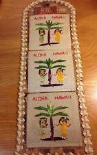 Vintage Hawaii Letter Organizer Souvenir  Straw Hula Girls Retro 70s