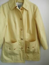 Ladies Vintage Quality Misty Harbor All Weather Yellow Jacket Car Coat USA Made