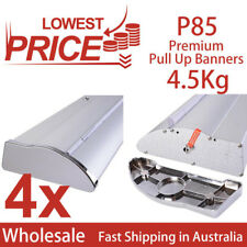 4x Premium Pull up,Roll up,Retractable banner stand display, no graphics P85