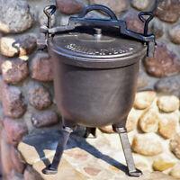Pot fonte sur dévisser pieds Casserole Outdoor Camping Pique-Nique Feu Camp 15L