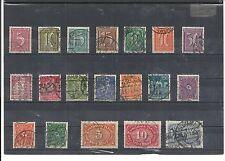 Imperio alemán, 1921 números de Michel: 158 - 176 o, con sello, michel valor 75,00 €