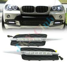 For BMW X5 E70 2007-2010 k 1 Pair LED DRL Daytime Running Lights Bumper Fog Lamp