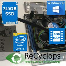 Mini ITX Windows 10 SSD Bundle - i5-3470 CPU, 8GB Samsung RAM, ASUS Motherboard