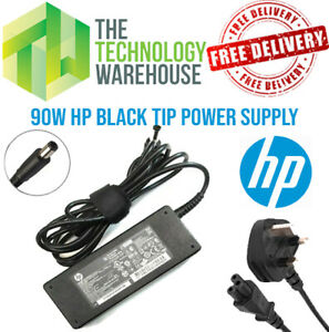 Genuine HP 90w Charger PSU - 19V 4.74A - 7.4mm*5mm Tip + Optional Power Cable