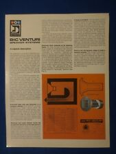 B I C Venturi Formula 1 2 4 6 Speakers Brochure Catalog Original The Real Thing