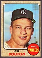 1968 Topps Baseball #562 Jim Bouton New York Yankees - SBID006