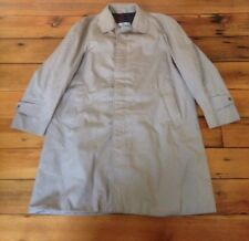 "Vintage Aquascutum Aqua 5 Beige Cotton Blend Trench Coat Raincoat UK Made L 50"""