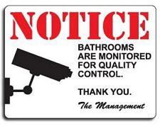 Prank Joke Sign NOTICE: Bathroom Camera Monitored - FUNNY AS HELL!!!!