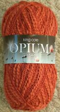 King Cole Opium Fashion Knitting Yarn 100g Cotton Acrylic Blend X 2