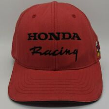 FOX x HONDA Racing Embroidered Spellout Logo Hat Flex Fitted Cap S/M Red