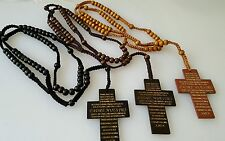 Rosary prayer beads OLIVE WOOD ANGLICAN  BETHLEHEM 21 inch necklace NEW
