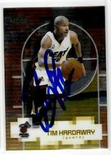 Tim Hardaway Signed 2000/01 Topps Finest Card #104