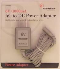 6V 1800mA AC-to-DC Power Adapter ~ RadioShack 273-1763 ~ No Adaptaplug Tip