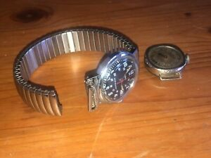 vintage Timex military style watch model 22728 02580 & other old watch