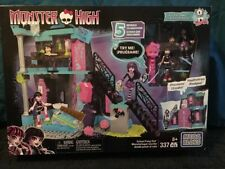 New In Box Monster High Mega Bloks School Fang Out Building Set 337 Pieces