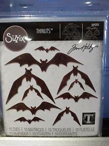 Sizzix Tim Holtz Thinlits 10 Dies Bat Crazy 664203 Halloween