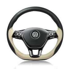 New listing For Volkswagen Golf 7 Gti Diy Hand-stitched Car Steering Wheel Cover Top Leather