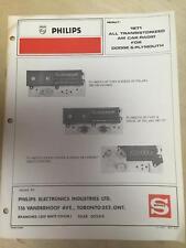 Philips Service Manual for 1971 Polara Coronet Belvedere Fury 3501 156 157 013
