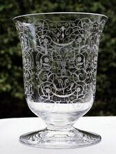 Baccarat France Glas Vase ° Bechervase ° Dekor MICHELANGELO ° Ätzmarke