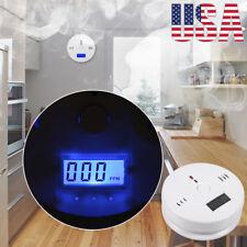 Co Carbon Monoxide Detector Fire Security Sensor Voice Alert Loud Alarm Home