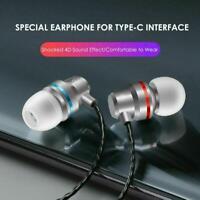 Metallkopfhörer Ohrhörer High Bass für USB-C Typ C mit drahtgesteuertem Mikrofon