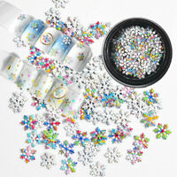 Nail Art Christmas Snowflake Glitter Mixed 3D Sequins DIY Manicure-Decorations