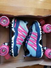 New Pink Sonic Cruiser Outdoor Quad Roller Skates w Toe Stop Womens 9 (Mens 8)