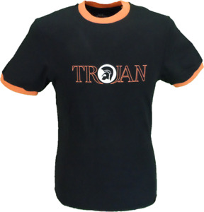 Trojan Records Classic Helmet Logo 100% Cotton Peach T-Shirt