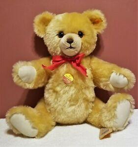 "Steiff Brummbar Teddy, 011825, 18"" tall, working Growler, Blonde Mohair, MWT"