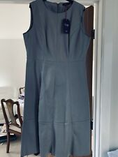 M & S Twiggy faux Grey Leather Pinafore COST £55 New & Tagged