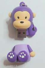 Novelty Purple Monkey USB 2 Flash Memory stick 4GB capacity Fast UK Posting
