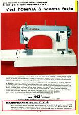 Publicité ancienne machine à coudre omnia à navette fusée 1968 issue de magazine