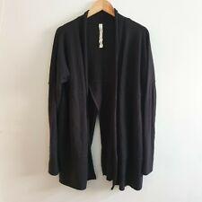 Lululemon Size 10 Navy Blue Blissful Zen Knit Open Cardigan Merino Wool Casual