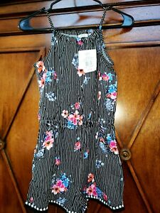 NWT  Youth  Girls FLORAL Romper Size XL