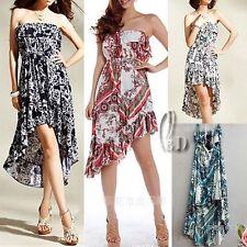 Polyester Asymmetrical Hem Summer/Beach Dresses