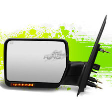 FOR 04-14 FORD F150 LEFT POWER+HEATED+TURN SIGNAL TOWING SIDE MIRROR BLACK