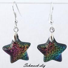 4 Paar Murano Glas Fünfzackigen Stern Perlen Ohrschmuck Ohrring Ohrhänger Damen