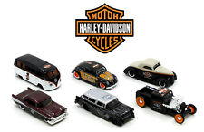 "HARLEY DAVIDSON ASSORTMENT WAVE ""1"" 6 CARS SET 1/64 DIECAST BY MAISTO 15380-W1"