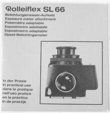 Rolleiflex Sl 66 Exposure Meter Attachment Instruction Manual multi-language