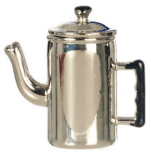 Metal Coffee Pot With Removeable Lid , Dolls House Miniatures Kitchen Accessory