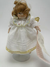 Pauline's Limited Edition Doll Amber 7in hand painted porcelain w stand