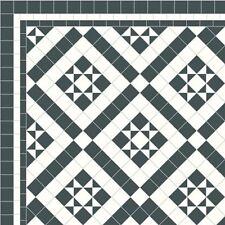 Unglazed Victorian white &black tiles exterior- interior £99.00 sqm²