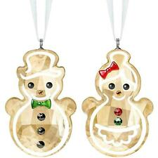 SWAROVSKI GINGERBREAD SNOWMAN COUPLE NIB #5464885