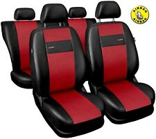 Car seat covers fit Seat Toledo black/red  leatherette full set