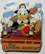 Disney Dca Thanksgiving Donald and Chip and Dale Sliders Signed Pin